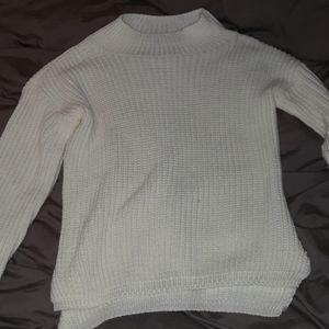 White High Neck Shirt